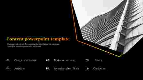 content powerpoint template for company presentation